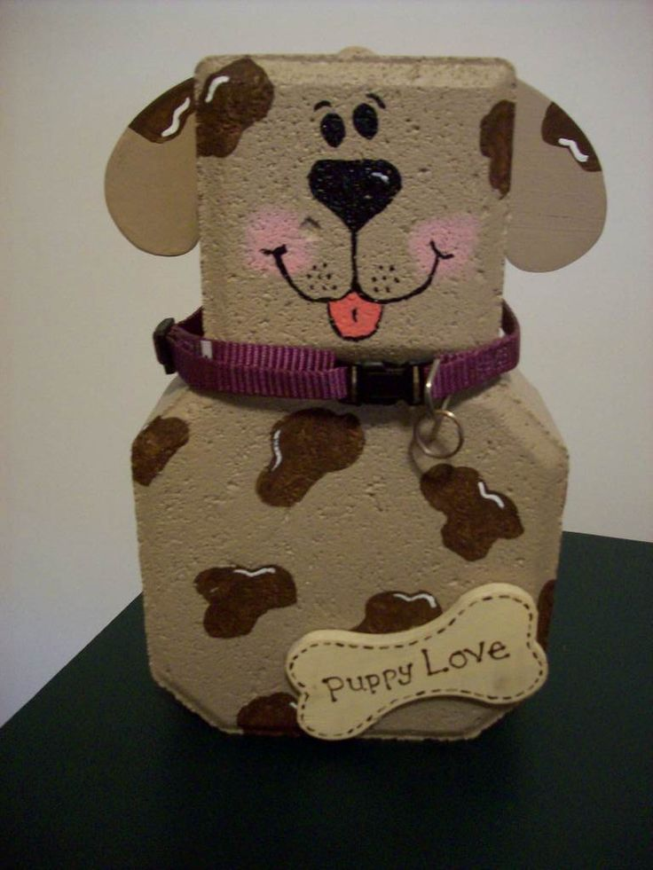 Paver block Puppy...I have a bunch of these in the back of our pickup right now! Sweet!!!!