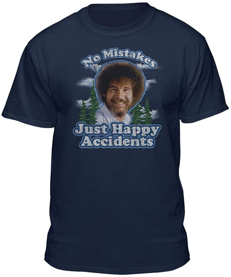 Bob ross graphic tshirt for men and women