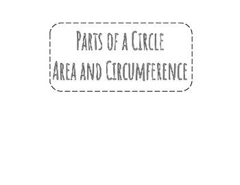 This area and circumference foldable was used for review in 8th grade before beginning the unit on volume of cylinders, cones, and spheres. It could also be used to align with 7th grade teks 7.5B and 7.9A.This product includes-printable area and circumference foldable including     -definition and examples of diameter and radius     -formulas for circumference and area     -2 model example problems