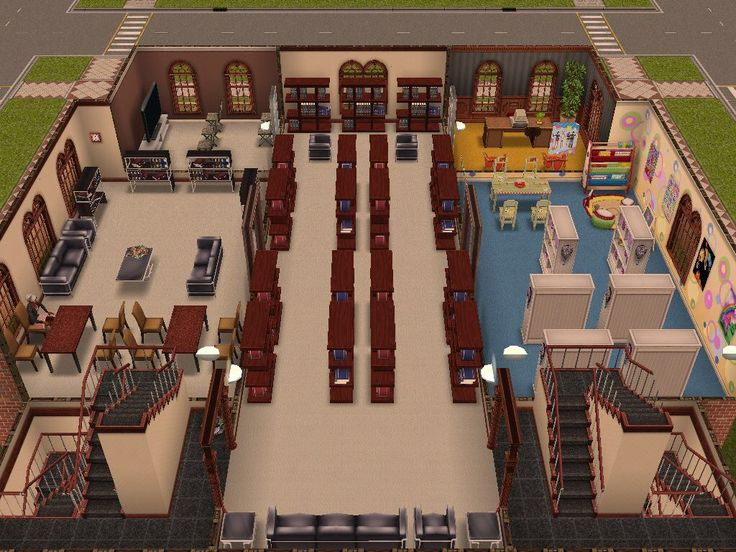 Sims Freeplay, Library, original house design