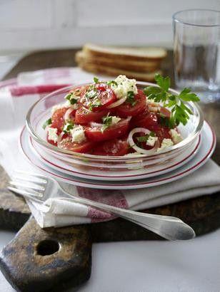 fürs Büro  Tomaten-Salat mit Schafskäse Rezept