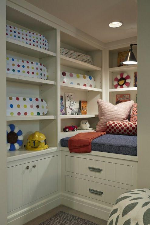 21 best kids room areas images on pinterest kids rooms Built in reading nook