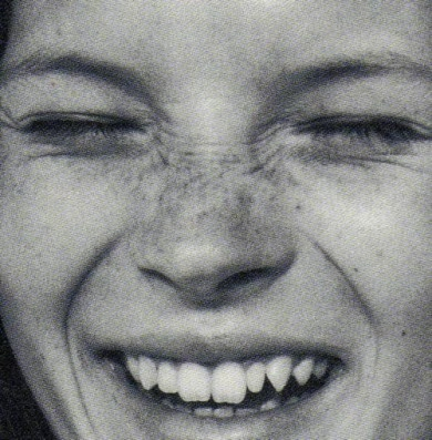 young kate moss <3 <3 <3 (love the freckly nose scrunch!)