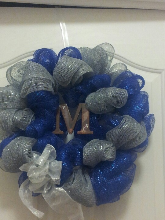 High School Football Team Wreath! has to be Orange and White of course