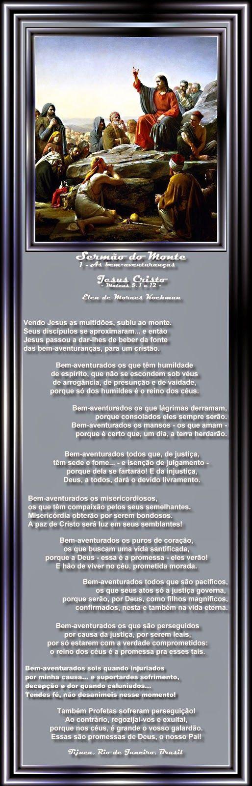Elen de Moraes Kochman (borboletapoeta): SERMÃO DO MONTE - I- As bem-aventuranças - Elen de...