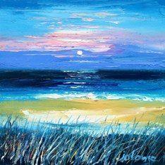 John Lowrie Morrison - Moonrise Beach of the Seat Iona