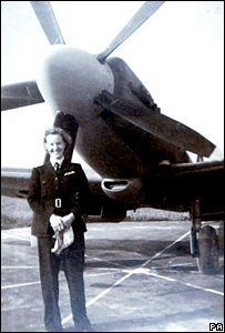 Margaret Frost, Air Transport Auxiliary pilot, flew new and repaired Spitfires, Hurricanes, and Mustangs to RAF bases during WWII ~