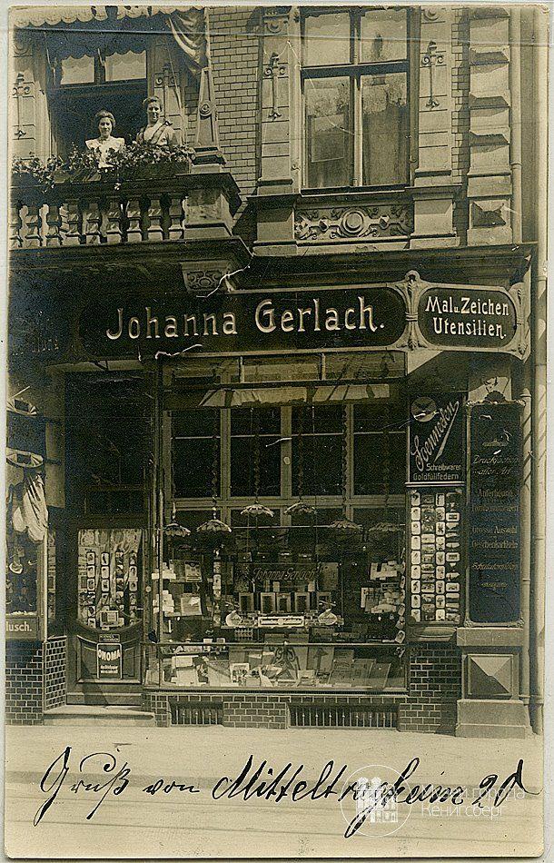 Königsberg Pr. Mitteltragheim 20,Geschäft für Mal- und Zeichen Utensilien, Johanna Gerlach