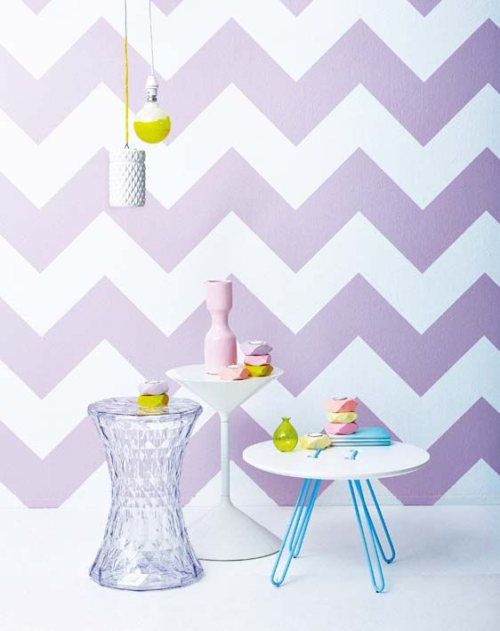 i think this will b kenzies room...: Chevron Patterns, Purple Chevron, Bedrooms Accent, Chevron Wall, Baby Rooms, Purple Wall, Bedrooms Ideas, Nurseries Ideas, Accent Wall