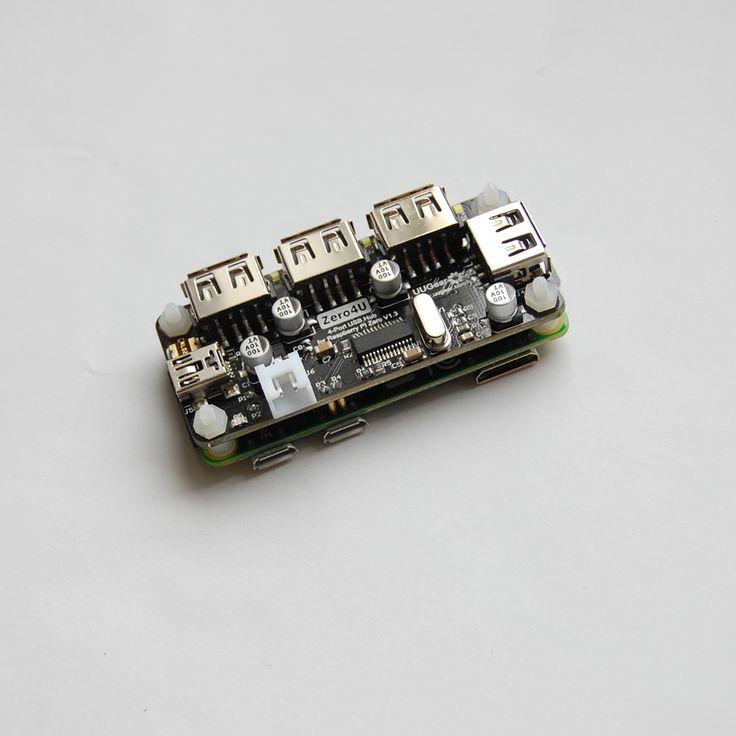 Zero4U: 4-Port USB Hub for Raspberry Pi Zero (V1.3 only) | UUGear