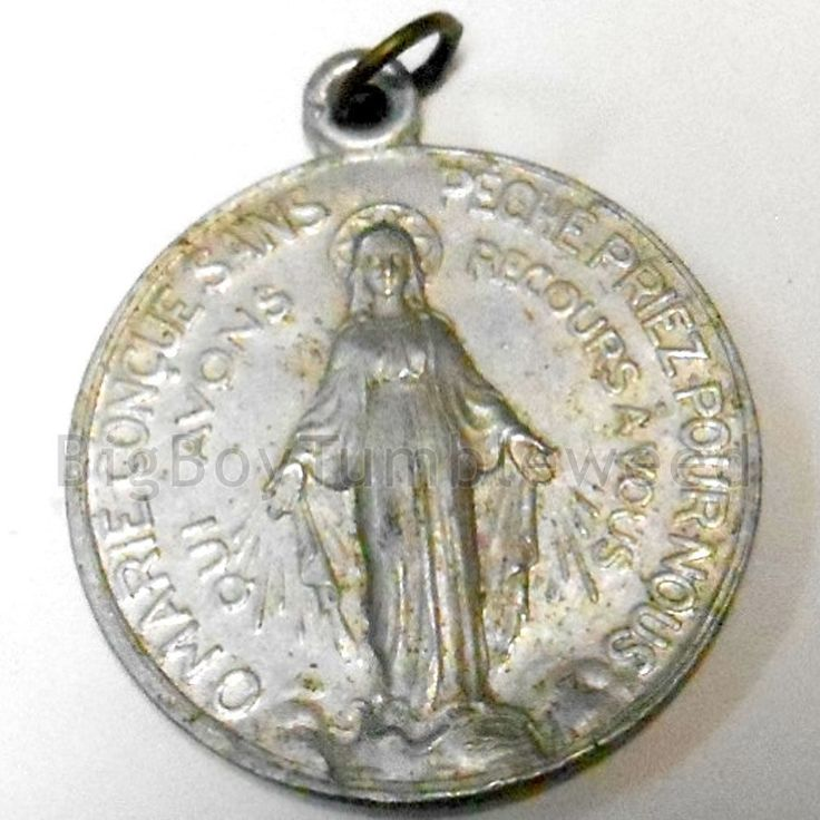 Vintage Aluminum The Miraculous Medal French Mary Coin