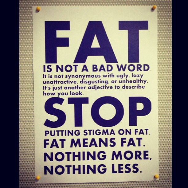 Fat is not a bad word...