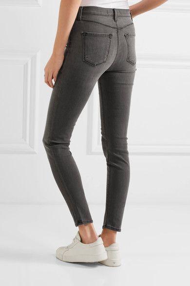 J Brand - Maria High-rise Skinny Jeans - Gray - 27