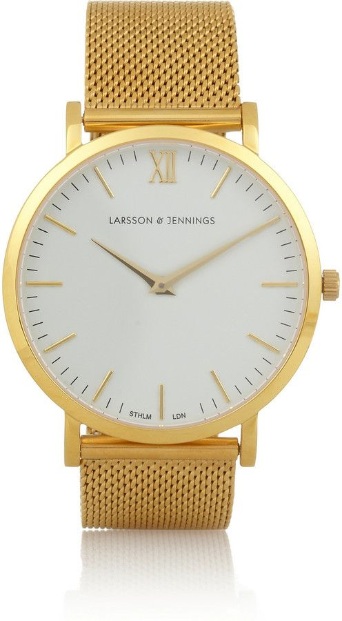 CM Gold-Plated Watch Larsson & Jennings