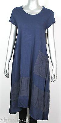 Женский итальянский lagenlook большой карман причудливый богемный мягкий хлопок, панель, платье-туника