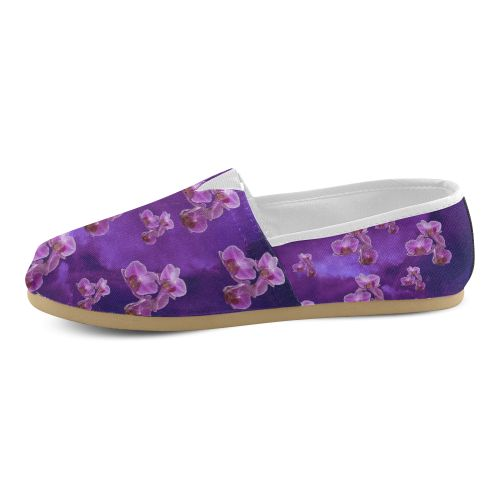 Purple Orchids Women's Casual Shoes (Model 004)