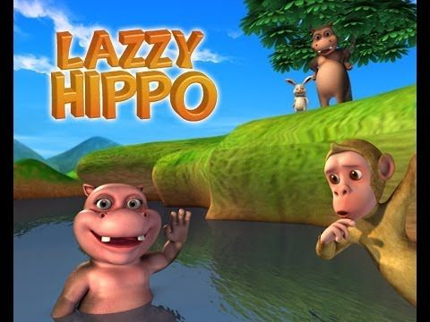Moral Stories for Kids - Lazy Hippo 3D Animated