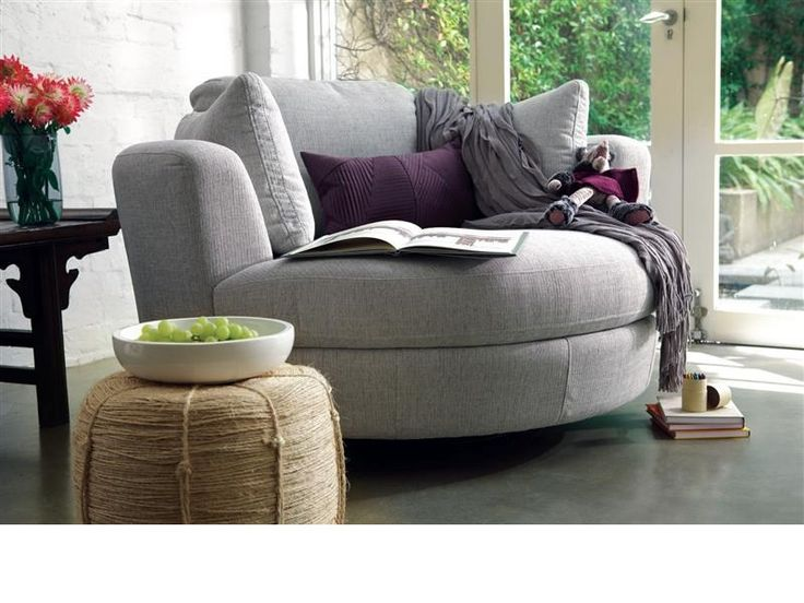 plush snuggle swivel chair for reading room