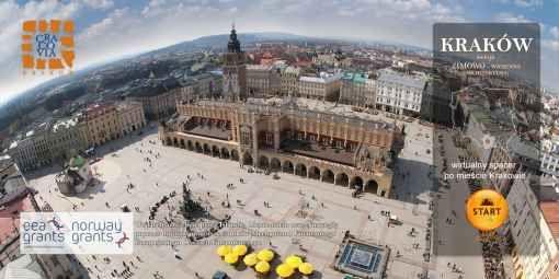 Strona umożliwia odbycie wirtualnych wycieczek po najciekawszych miejscach w Krakowie