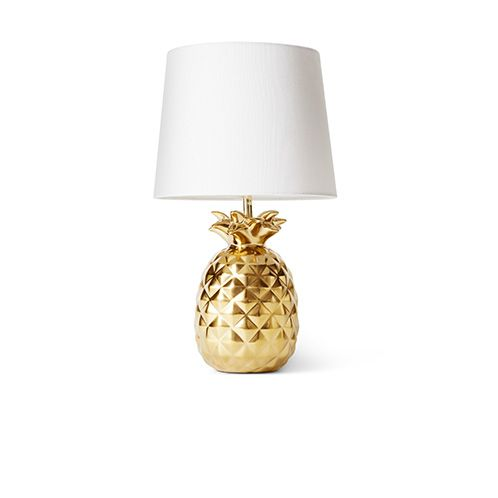 Tropical treehouse, golden pineapple lamp, perfect for adding a bit of a feature to a room.
