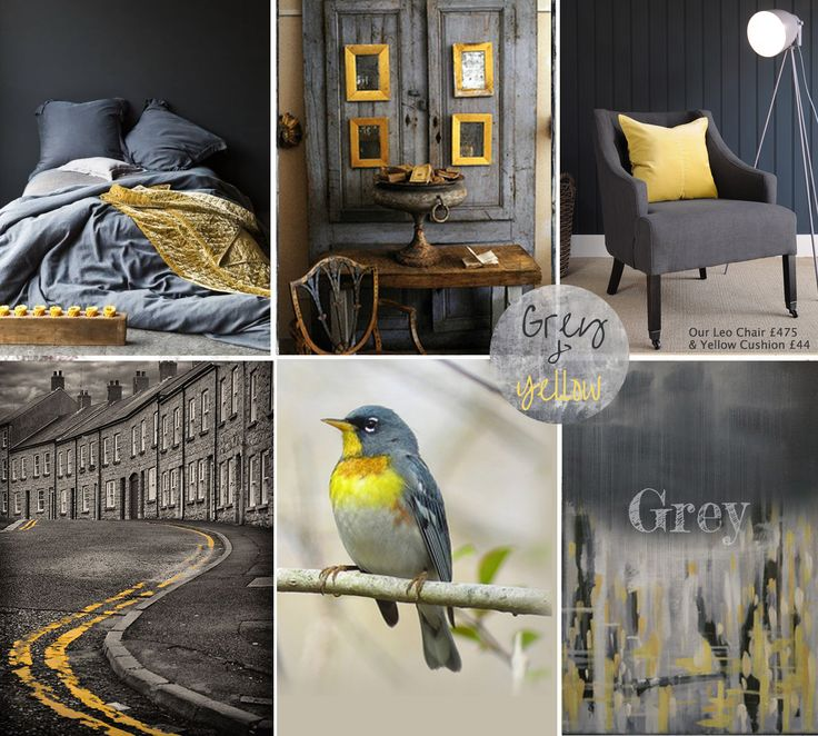 Grey & Yellow mood board by The Olive Tree