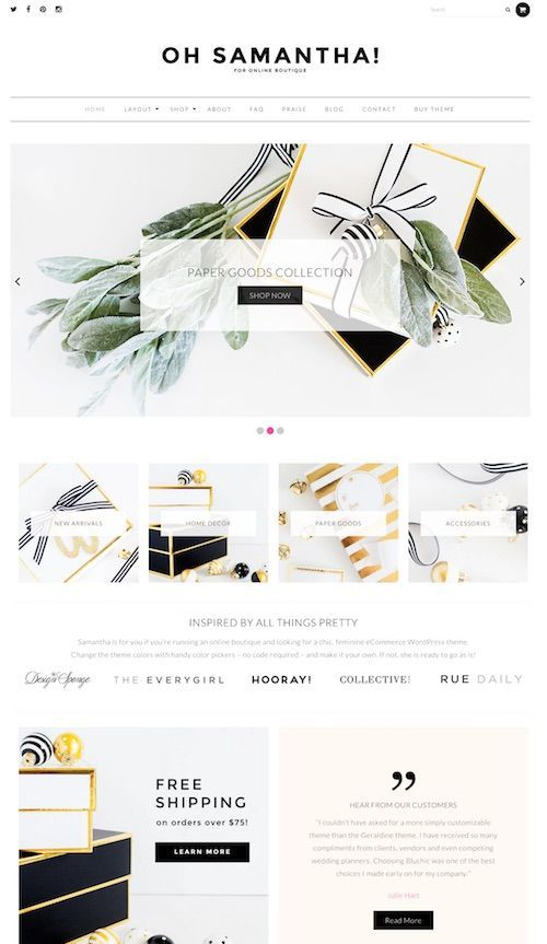 Samantha is a beautiful and feminine WooCommerce WordPress theme for ecommerce…