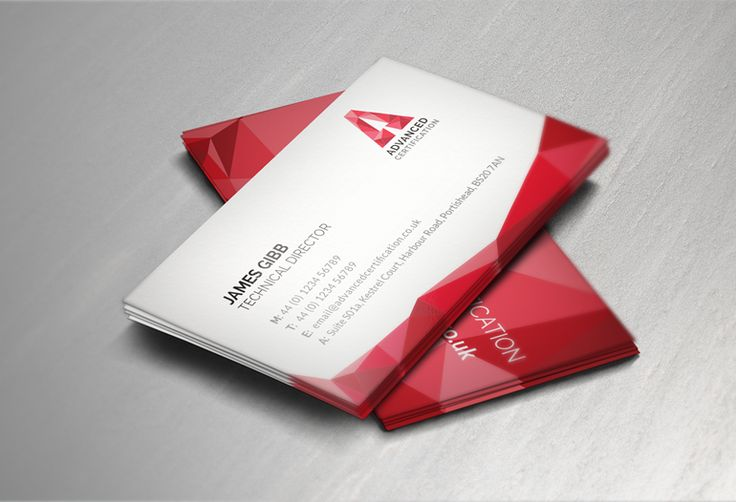 Business cards design #branding #stationery #red #geometric