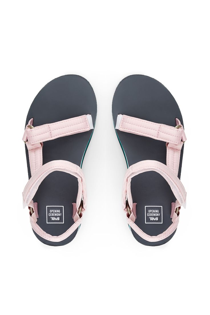 Opening Ceremony x Teva, Sale Satin Flatform , Round toe, Adjustable hook-and-loop ankle and toe straps, Nylon upper, leather insole, and rubber sole, Imported