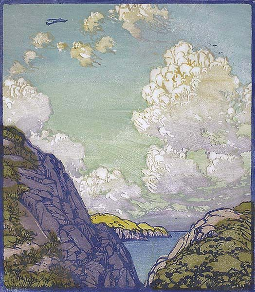 Into the Blue, Frances Hammell Gearhart, ca. 1930