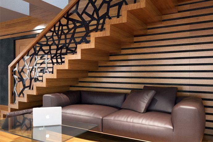 Schody nowoczesne 5 - producent schodów drewnianych Schodo-System