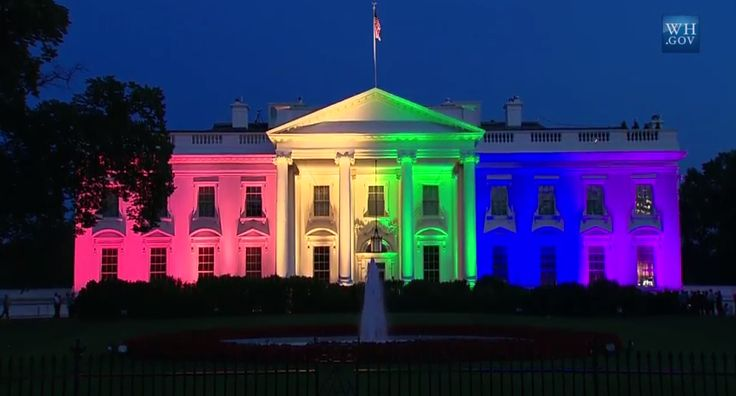White House lights up rainbow colors to celebrate SCOTUS ruling - LOVE IS LOVE & IT'S ABOUT TIME!!!