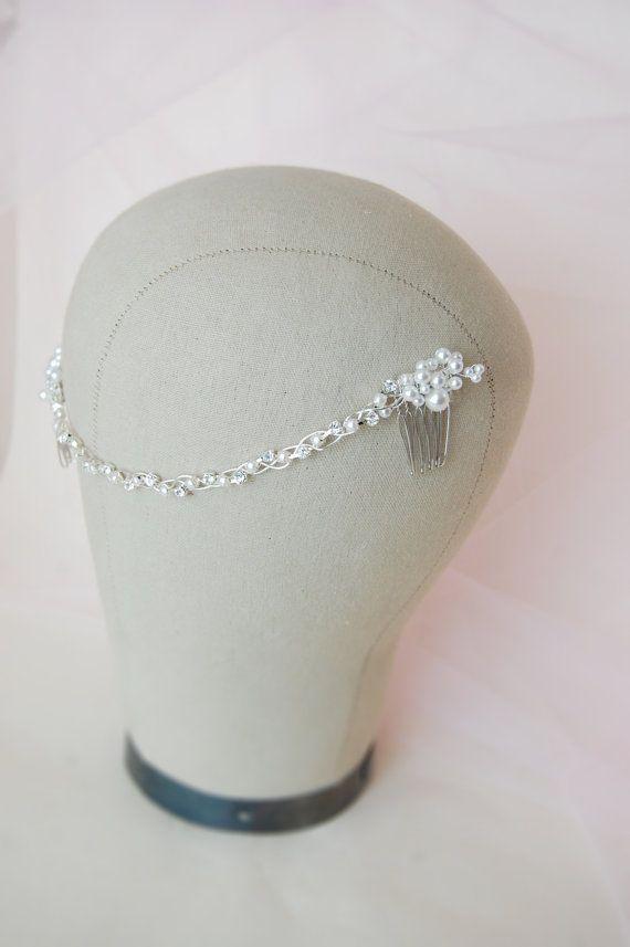 Hochzeit Perlen haarband Perle Haar Kamm Braut Haar von Elibre