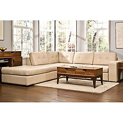 Kami 6-piece Modular Cream Leather Sectional | Overstock.com Shopping - Big Discounts on Red Labeled Sectional Sofas