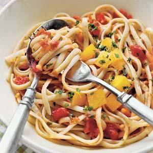 Two Tomato Linguine Recipe | MyRecipes.com