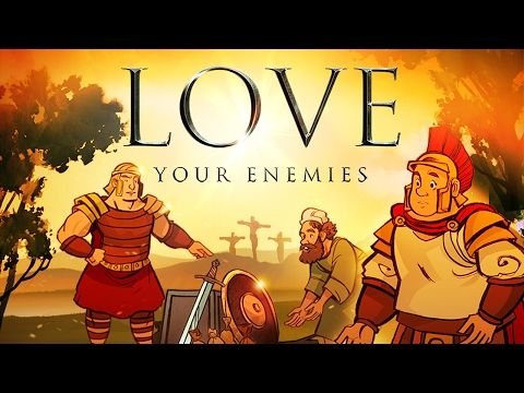 Matthew 5 Love Your Enemies Bible Video for Kids: Love Your Enemies Bible Video for Kids (Matthew 5:38-48) This video explores a powerful teaching from the Sermon on the Mount. Your kids will learn that there is more to life than getting even. In fact, Jesus will teach that in every conflict there is the opportunity to share the love of God! Featuring award-winning artwork, stunning animation and powerful story telling this Matthew 5 video is a must-have teaching resource!