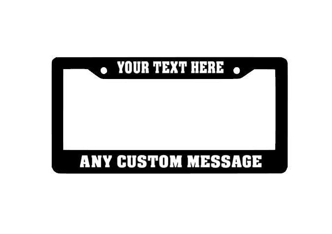 Custom License Plate Frame, Personalized License Plate Frame, Funny License Plates, Auto License Plate Holder, Car accessories, Custom Decal by StickUpGraphix on Etsy