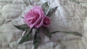 МК. Изготовление розы с помощью подручных инструментов