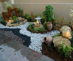 46 best jardines images on pinterest landscaping small - Jardines con piedras blancas ...