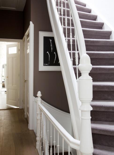 Mooie gang trap en kleurencombinatie droomhuis pinterest - Redo houten trap ...