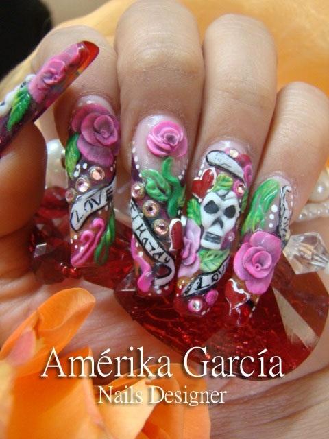 Mejores 138 imágenes de Judie\'s 3d nails en Pinterest | Uñas ...