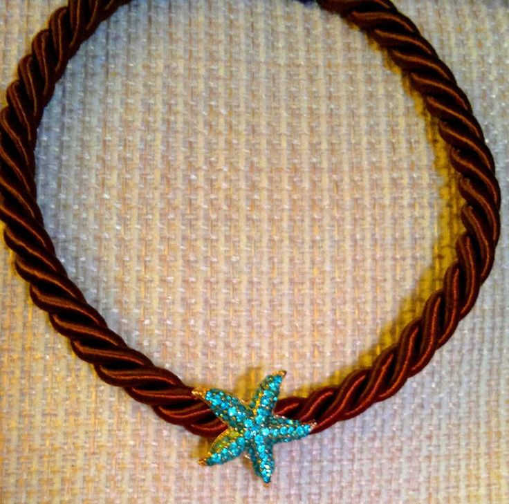 blue star brown necklace