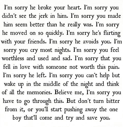 Advice for a friend with a broken heart