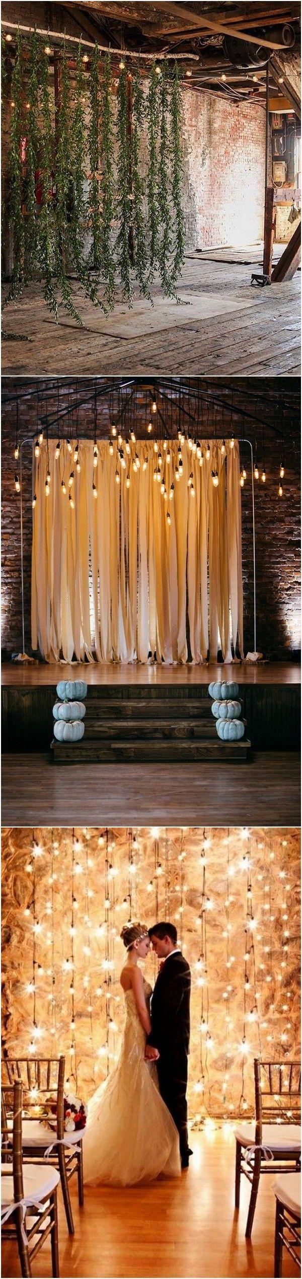 edison bulb lighting wedding backdrop ideas_