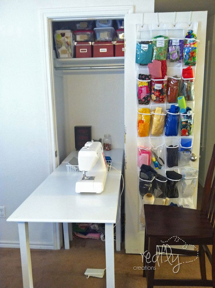 Captivating Redfly Creations: Sewing Table Folds Up Into Closet   Wish I Had A Closet I
