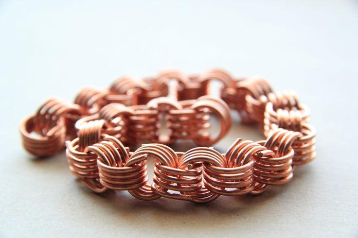 """Как сделать """"золотую"""" цепочку из медной проволоки. How to make """"gold"""" chain..."""
