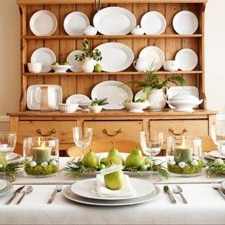 white ware collection dishes dinnerware display kitchen hutch