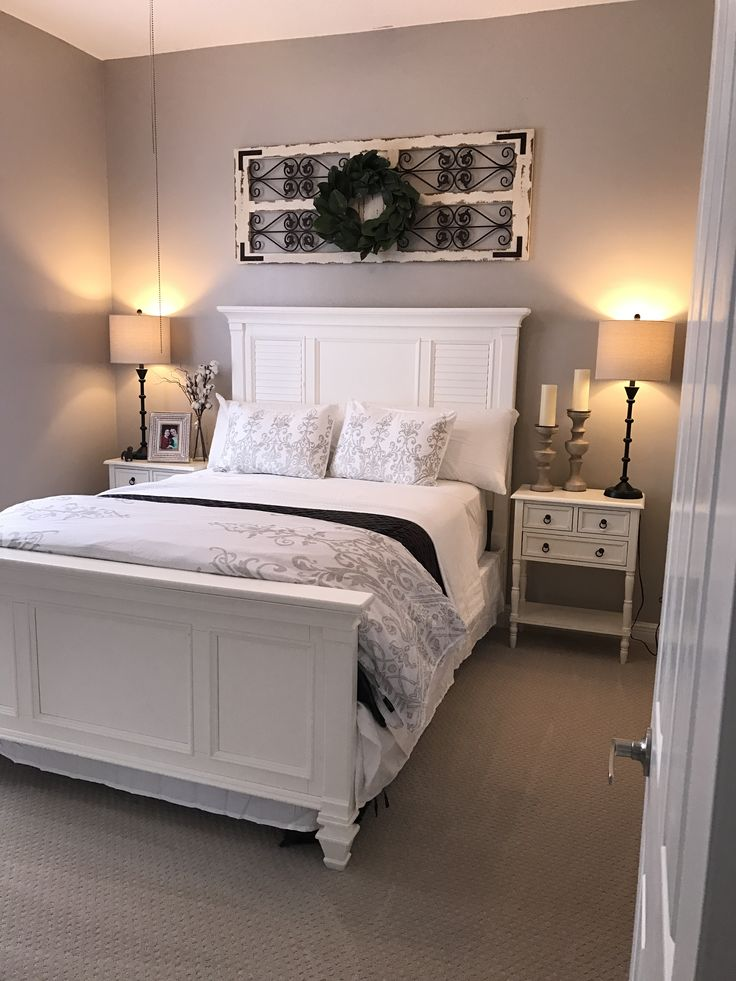 Shabby chicfarmhouse style merged with a coastal flare Color is versatile gray from Sherwin