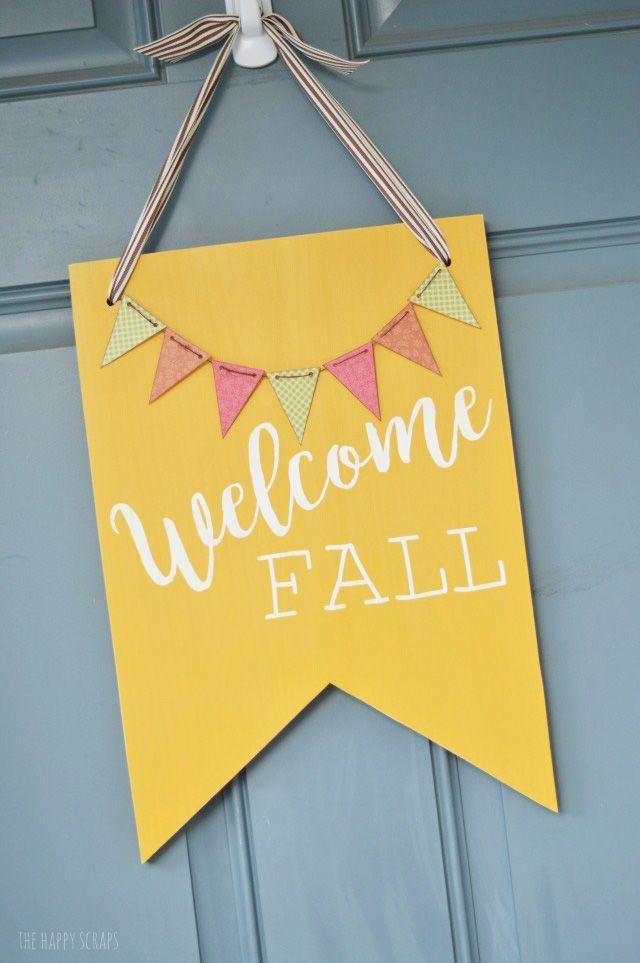 Welcome Fall Front Door Decor