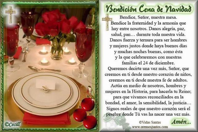 Blog Católico Navideño Oración Para Bendecir La Cena De Navidad Oraciones De Navidad Cena De Navidad Oraciones