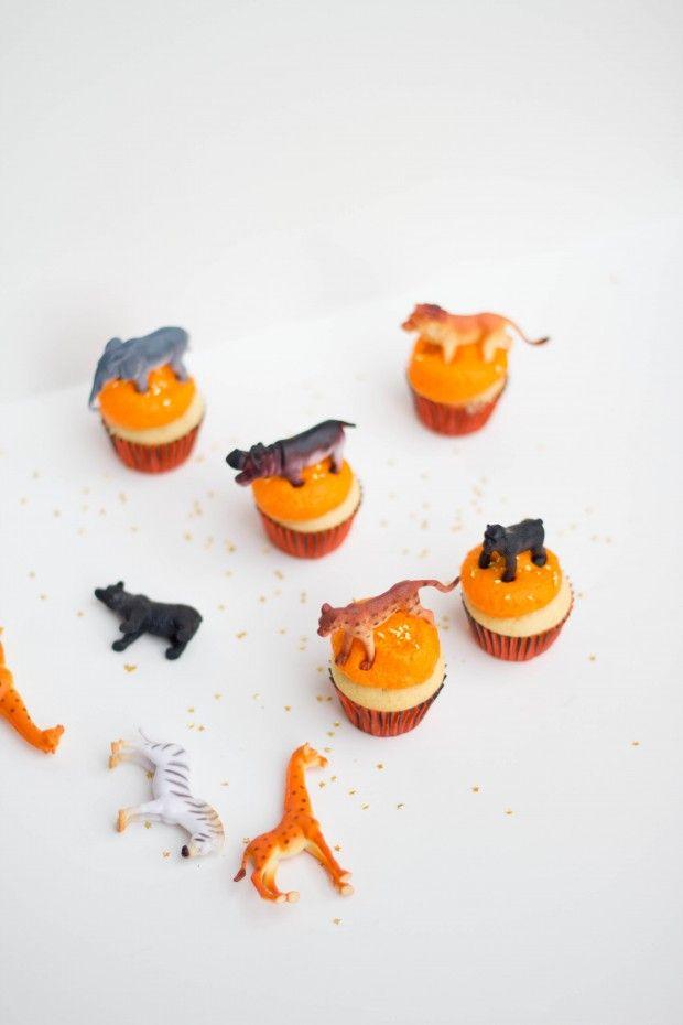 Animal Parade Mini Cupcakes